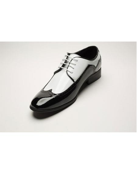 Mens Two Toned Black/White