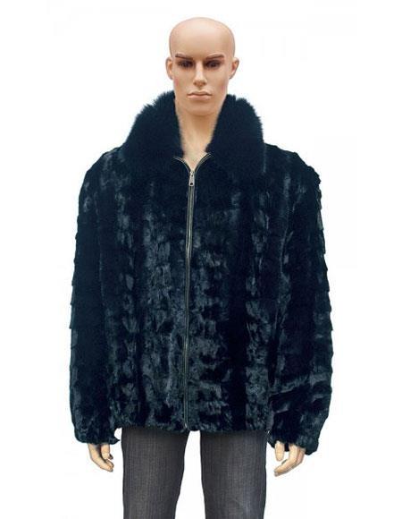 Mens Fur Black Pull