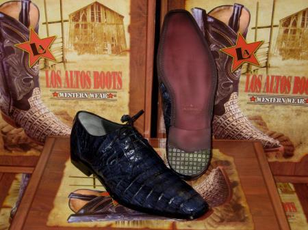 Product# JB23 Genuine Authentic Jean Blue cai ~ Alligator skin Crocodile ~ Alligator skin Belly Dress Shoe