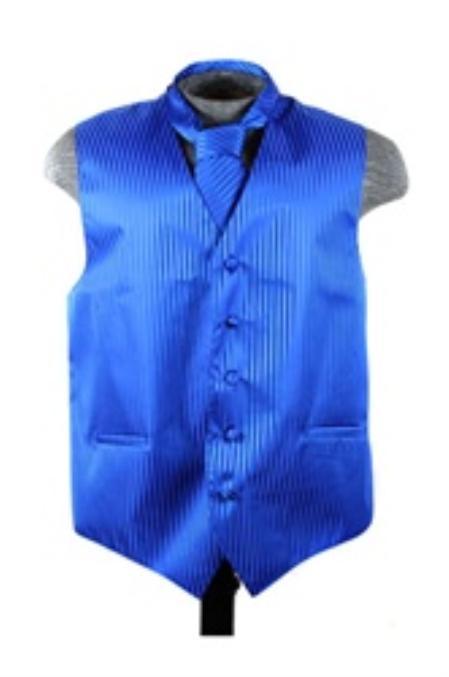 Vest Tie Set Blue