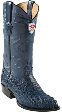 Product# DY8450 Wild West Blue Jean J-Toe cai ~ Alligator skin Hornback Cowboy Boots