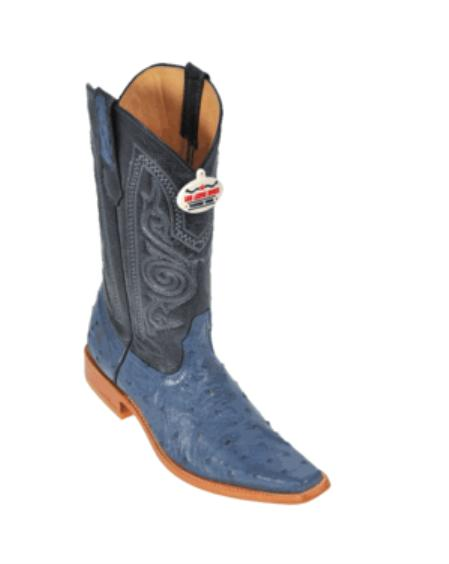 Product# GB3400 Blue Jean Ostrich Cowboy Boots