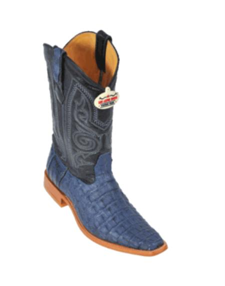 Product# RH7234 Blue Jean Smooth Cowboy Boots