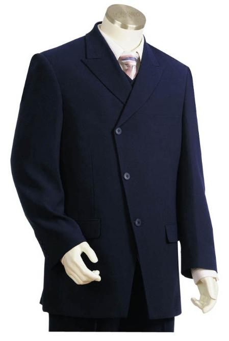 Product# LM3535 Long Long length Zoot Suit For sale ~ Pachuco Mens Suit Perfect for Wedding in Dark Blue