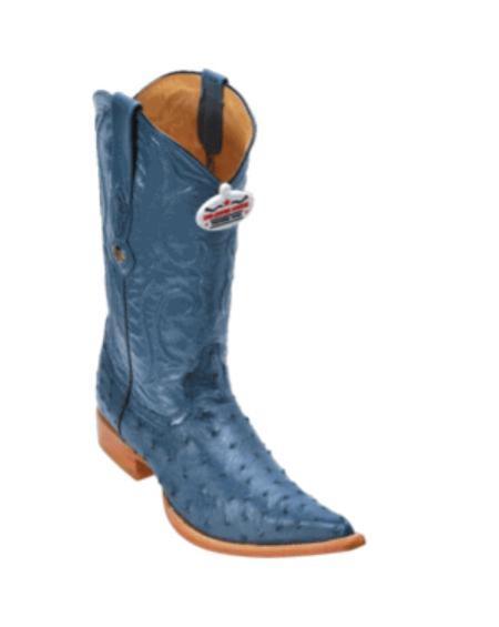 Blue Jean Ostrich Cowboy