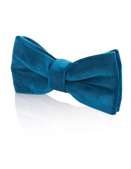 Product# JSM-4427 Men's Alexander Dobell Velvet Fashion Blue Bow Tie