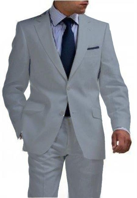 Product# LGR1321 & Kids Boys Sizes Light Weight 2 Btn Tapered Cut Half Lined Flat Front Linen Suit Vented Light Gray