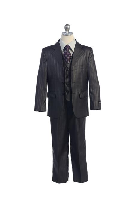 Product# SM416 3 Button Style Notch Lapel Kids Boys Kids Sizes Vest Suits For Teenagers With Pant Grey