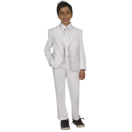 Kids Boys Five Piece Suits For Teenagers With Vest,Shirt And Tie