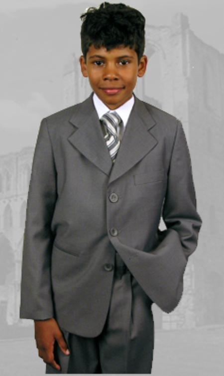 B-100 Gray Boys Dress