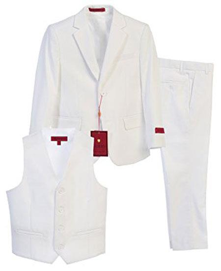 Boys White 3 Piece