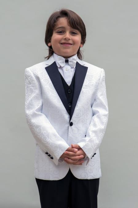 Men's Single Breasted White Colored Notch Lapel Boys Blazer ~ Sport coat + Jacket only