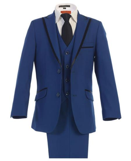 Product# RM1716 Kids Boys Kids Sizes Royal Blue Boys And Men Suit For Men Perfect  pastel color Suits For Teenagers With Adjustable Tie