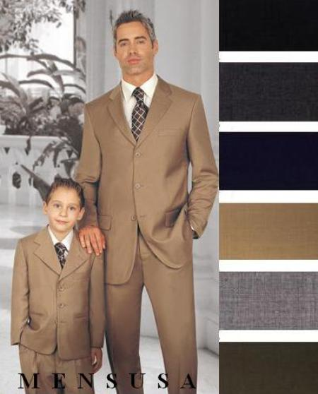 2 or 3 Buttons Style option Wool Fabric Boys And Men Suit