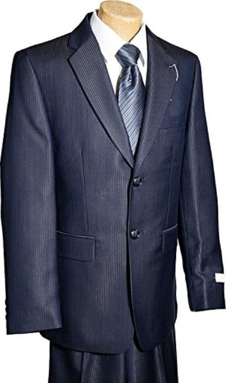 Product# KA9788 2 Button Style Navy Tone/Tone Boy Designer Suits For Teenagers