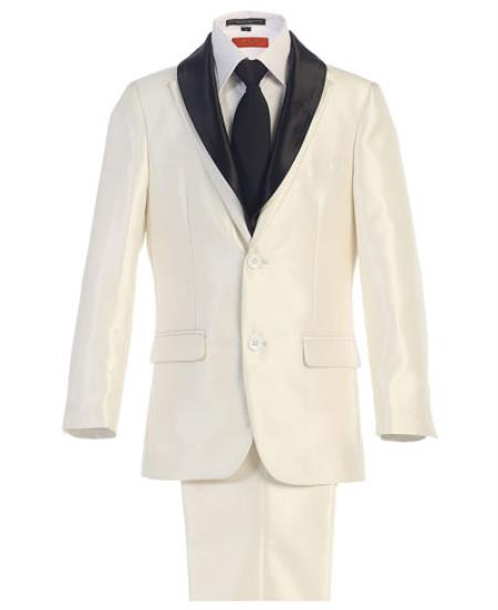 Kids Boys Kids Sizes White Boys And Men Suit For Teenagers With Adjustable Tie