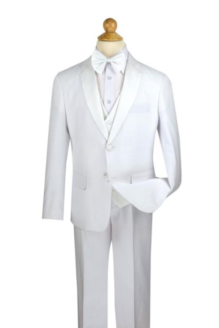 Boys White 5 Piece