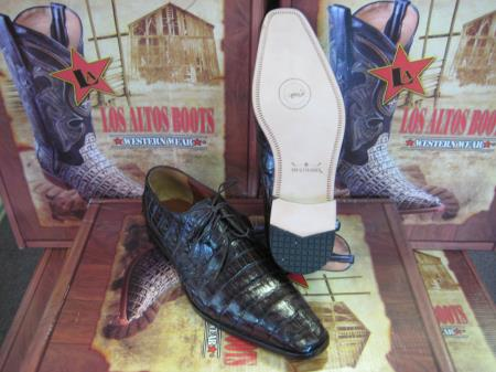Product# EE4 Genuine Authentic brown color shade cai ~ Alligator skin Crocodile ~ Alligator skin Belly Dress Shoe