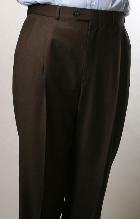 Brown Parker Pleated Slacks