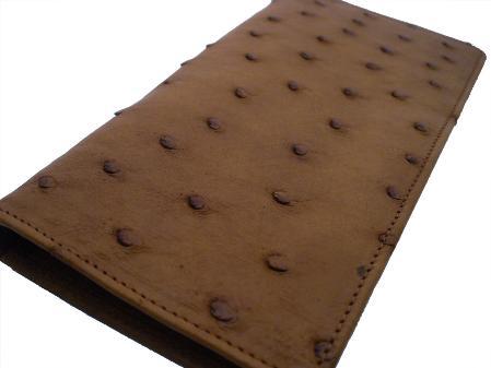 Ostrich Checkbook - Kango