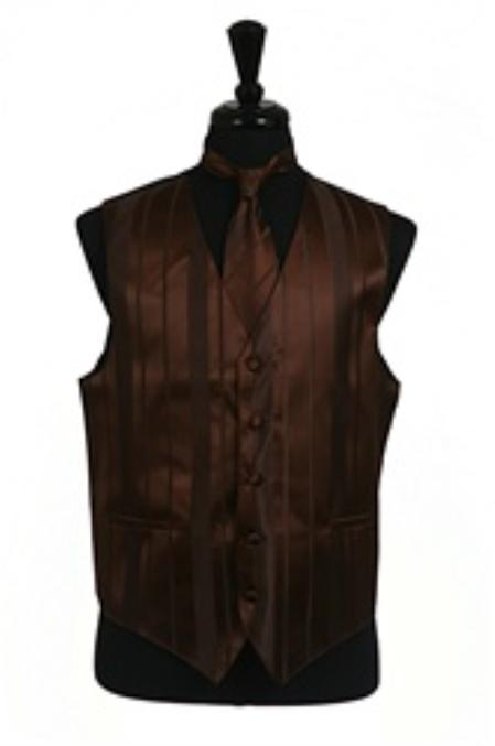 Vest/Tie/Bowtie Sets (brown color