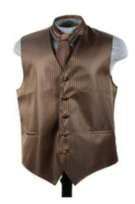 Vest Tie Set brown
