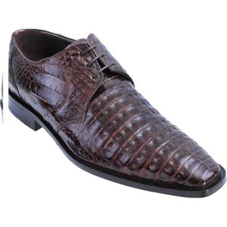 Product# KA3587 Full Gator Belly Dress Shoe – brown color shade