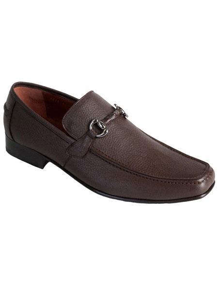 Men's Brown Genuine Full Deer Skin Los Altos Boots Casual Slip On Loafer Style Dress Shoes