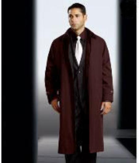 Polyester/Nylon Long Rain Coat-Trench Coat Brown(Snap Off Liner)