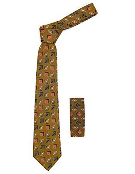 Mens Geometric Brown with