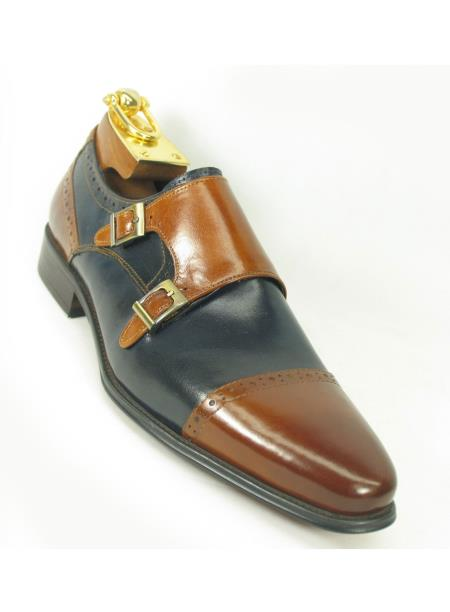 Carrucci Mens Brown/Navy Two