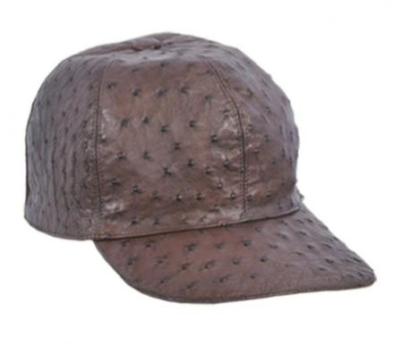 Product# KA1338 larger image Authentic Los altos brown color shade Genuine Ostrich Baseball Hat
