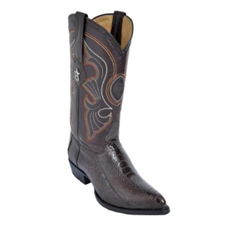 Product# HK99 brown color shade J-Toe Genuine Ostrich Leg