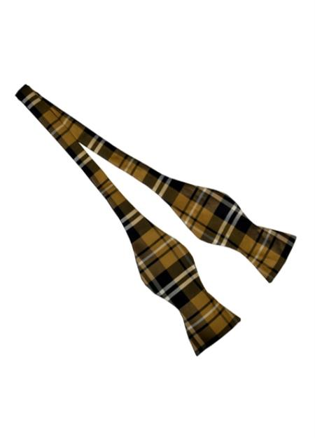 Mens Brown Polyester Plaid