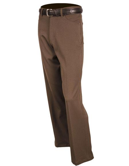 Mens Solid Pattern Brown