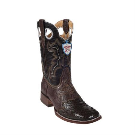 Product# KA3027 Wild West - Boots Ostrich Leg Wild Ranch Toe - brown color shade