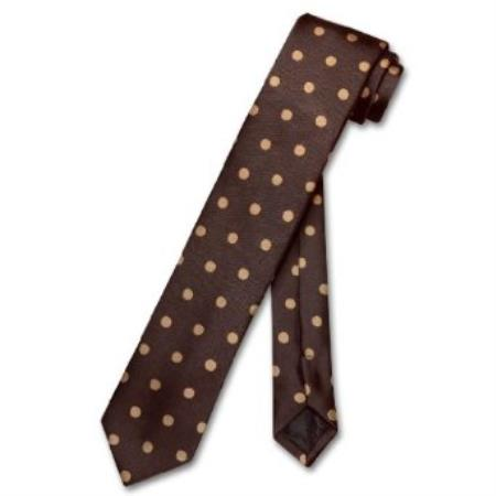 Product# TR6299 Skinny Chocolate brown color shade w/ Light brown color shade Polka Dots 2.5