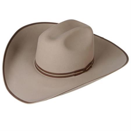 Product# 7VVS 4X Buck Felt Cowboy Hats Tan khaki Color ~ Beige