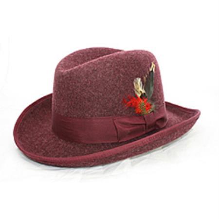 Burgandy Godfather 100% Wool