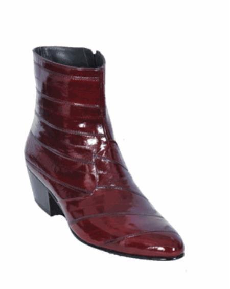 Product# KA11207 Eel European Style Dress Burgundy ~ Maroon ~ Wine Color Boot