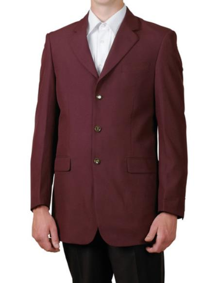 Burgundy ~ Maroon ~ Wine Color/Maroon Single Breasted 3 Button Style Suit Jacket Dinner Blazer Online Sale