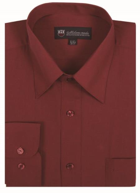 Mens Solid Burgundy Color