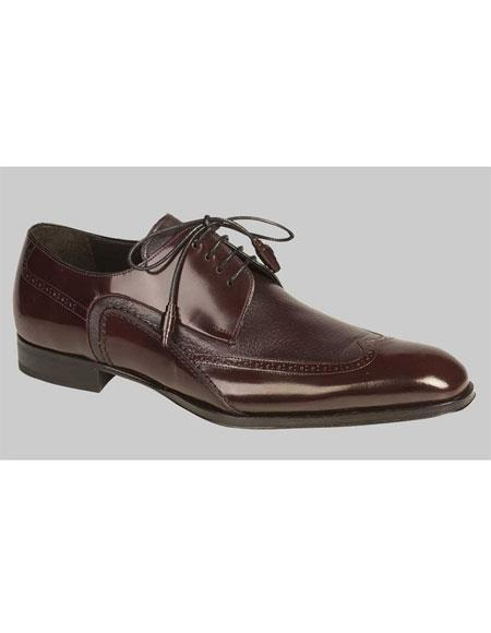 Mens Lace Up Burgundy