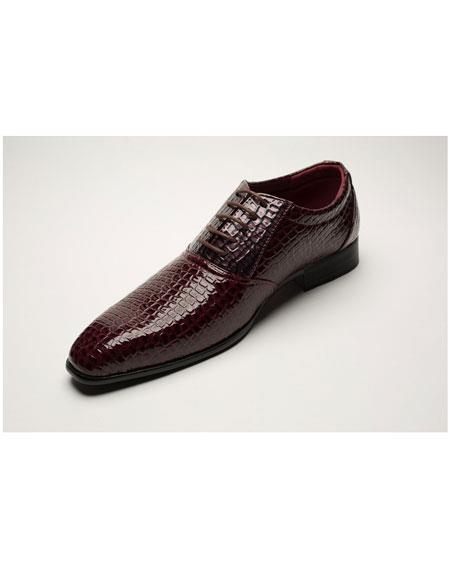Toned Burgundy Five Eyelet