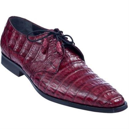 Product# KA3537 Full Gator Belly Dress Shoe – Burgundy ~ Maroon ~ Wine Color