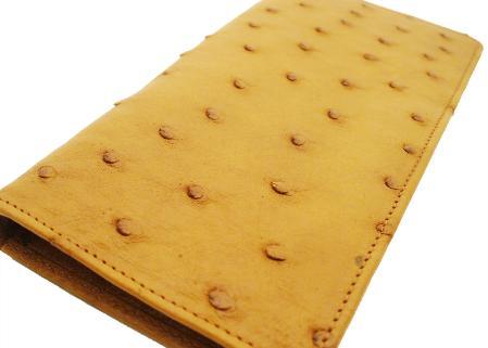 Ostrich Checkbook - Buttercup