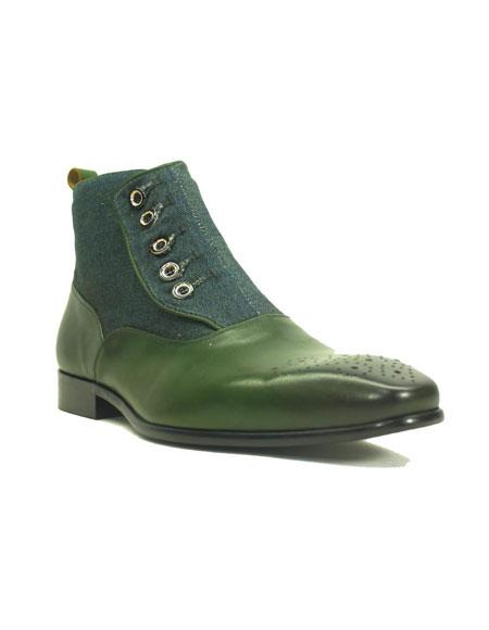 Mens Carrucci Fashionable Emerald