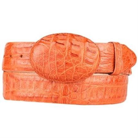 Product# SM262 Original Cai Hornback Skin Western Style Belt Cognac