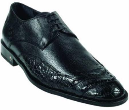 Product# MK922 Cai (Gator) Belly Skin Liquid Jet Black Dress Shoe