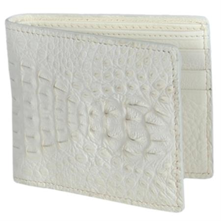 Product# KA3343 Carteras cai ~ Alligator skin Lomo Wallet – Hueso